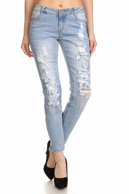 American Blue -Distressed Cotton JEANS ACP-737 (12 PC)