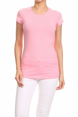 LoveSweet Basic T-shirts T-001-Pink