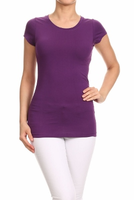 LoveSweet Basic T-shirts T-001-Purple