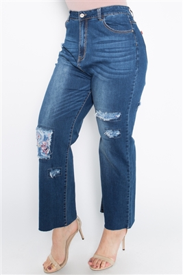 Patchwork Plus size Premium Jeans WP8011